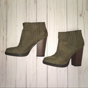 Zara Green Suede Ankle Boots
